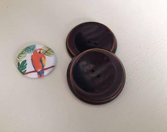 Set 2 Brown buttons