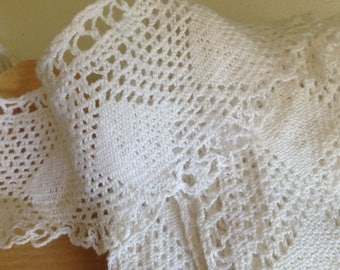 Wide band of lace crochet handmade