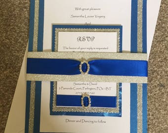 Handmade wedding invitations with rsvp