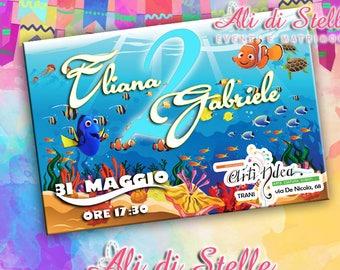 Custom party invitations! Nemo Dory 100% customizable Birthday Party Invitation