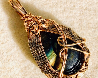 Beautiful labradorite pendant