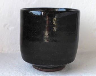 Wood fired stoneware tea cup