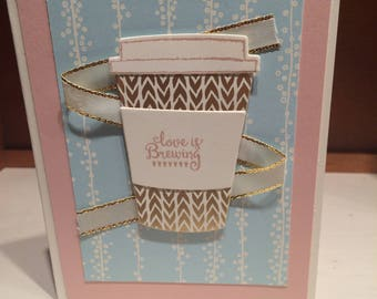 Valentines Love is Brewing Card