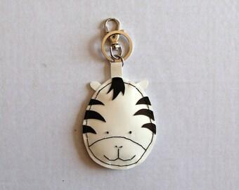 Zebra pvc snout keychain
