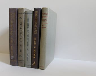 Neutral Toned Vintage Decorative Books - Home Decor, Shelf Filler, Instant Library, Wedding Decor, Prop, Book Collection, Book Lover