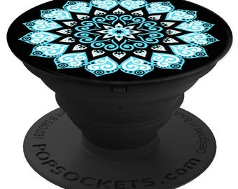 PopSockets For Phone Pop Socket Phone Grip Phone Stand Holder Peace Mandala Sky