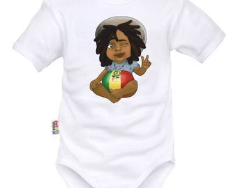 Bodysuit with small Bob Marley