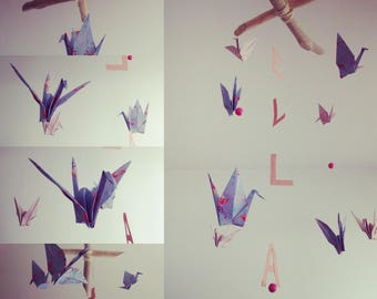 Pretty Origami Mobile for baby