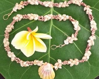Gorgeous Momi Kahelelani Sunrise Shell Pendant Necklace