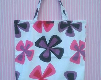 Handmade cotton fabric shopping bag