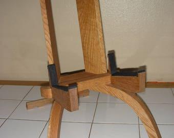 Wood Guitar Stand Oak