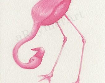 Original illustration series flamingo (n = 6/8) 10 X 15 cm