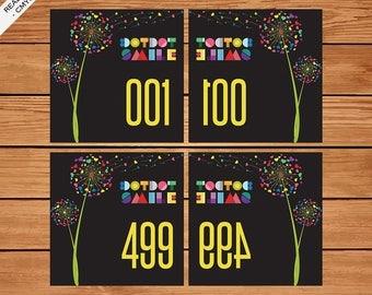 Dot Dot Smile Live Sale Number 1-500 Normal / Mirrored, DDS Facebook Live Sale, DDS Business Card, Fast Personalized, Dandelion, DDS02