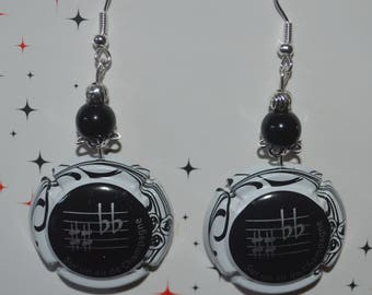 """Music Note"" earrings capsule champagne"