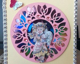 card 3D little earth angel on CD