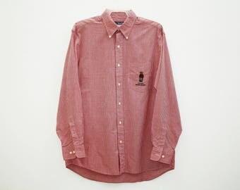Vintage Chaps Ralph Lauren Polo Bear Check Shirt Size M