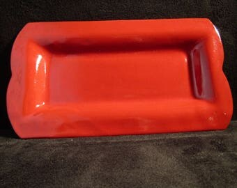 Terracotta red serving platter