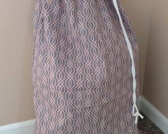 Laundry/beach bag plastic lined