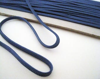 1 m cord blue 3mm wide flat lace