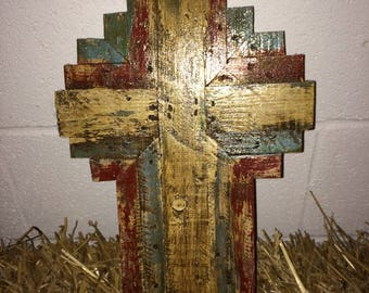 Wooden Cross Hand Carved