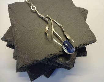 Kyanite and silver pendant