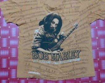 Marley Bob Brown Shirt Graphic 50th anniversary 1995