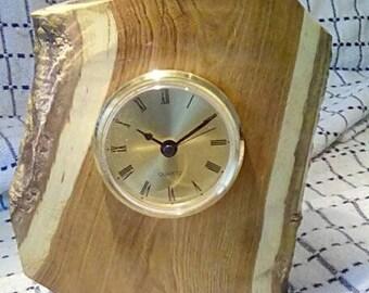Laburnum natural edge clock