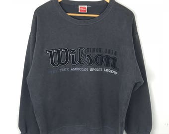 Rare!!! Vintage!!! Wilson Sweatshirt Pullover Big Logo Spellout Embroidery Jumper