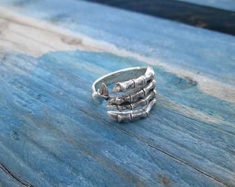 Hand ring Sterling Silver 925-002 skeleton