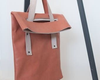 COUCH TO BAG re-used leather handbag