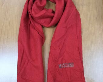 Authentic scarves genuine maffla MOSCHINO Red Colour For Chinese New Year
