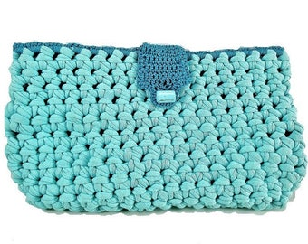 Kit/bed / turquoise blue pouch with handkerchiefs