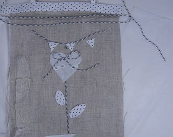 Kit for table linen embroidery lace flower