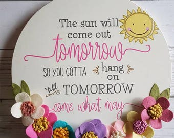 The sun will come out tomorrow, kids room, nursery, baby, kids decor, Annie, sunshine, positive vibes