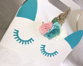 Unicorn Party Favor Boxes - UnicornTreat Boxes - Unicorn Birthday - Unicorn Party