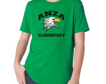 Anza Youth T-Shirt, Short Sleeve T-Shirt, Anza Elementary, Spirit Wear, Redondo Beach