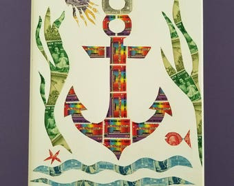 Postage Stamp Collage - Anchors Away!