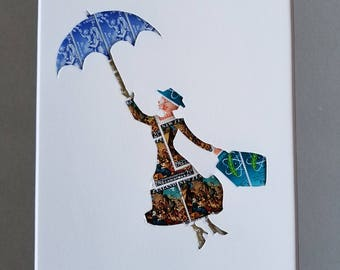 Postage Stamp Collage - Mary Poppins