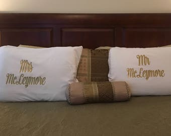 COUPLES PERSONALIZED PILLOWCASES