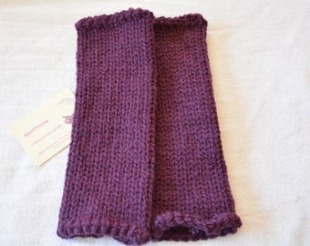 Leggings, leggings, baby / child, daughter, Plum, knitted wool, handmade