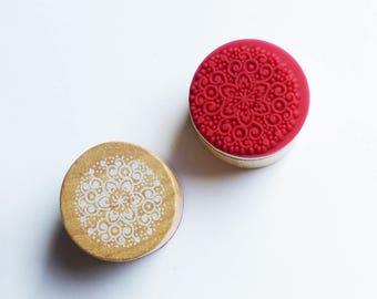 wood circle stamp holder 3 cm * 5 pattern