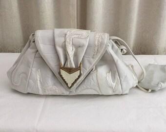 Vintage Sharif Leather and Snake Skin Purse