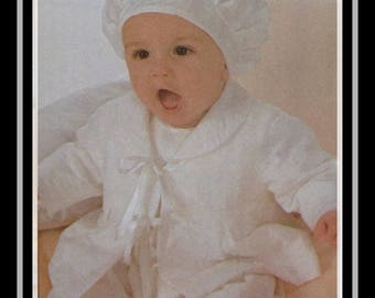 Burda 9944 Sewing Pattern, Infants Christening/Baptism Dress, Jacket, Hat, Size 1 mos-12 mos, OOP