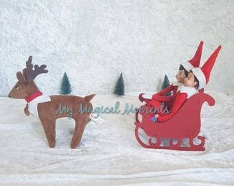 Elf On The Shelf Compatible prop- sleigh