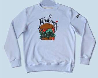 Sky blue GREENS EATER sweatshirt