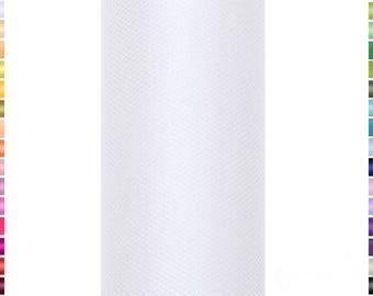 9 mètres de Tulle blanc en 15 cm de largeur vendu à la bobine
