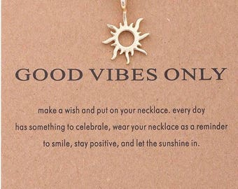 """Necklaces for women """" Good Vibes """""""