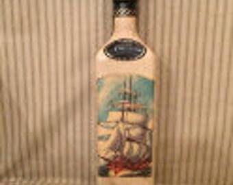 Vintage leather liquor bottle