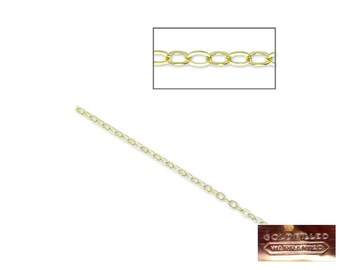 Gold Filled - Chain 1.3mm - 50cm, 1m or 5m