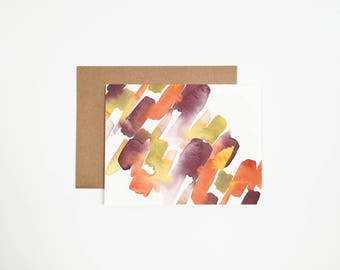Abstract Orange and Purple Greeting Card - Can Be Customized With Writing
